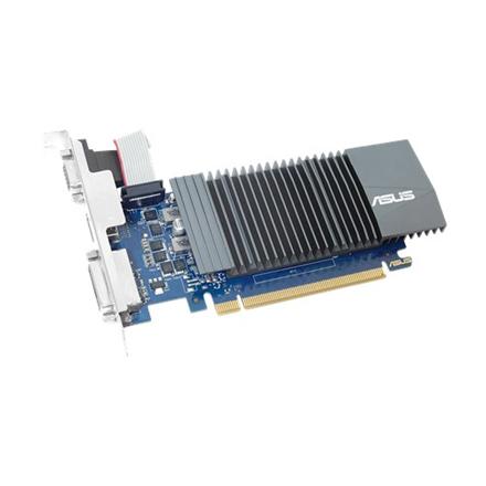 Asus NVIDIA, 1 GB, GeForce GT 710, GDDR5, PCI Express 2.0, Cooling type Passive, HDMI ports quantity 1, Memory clock speed 5012 MHz, DVI-D ports quantity 1, VGA (D-Sub) ports quantity 1, Processor frequency 954 MHz