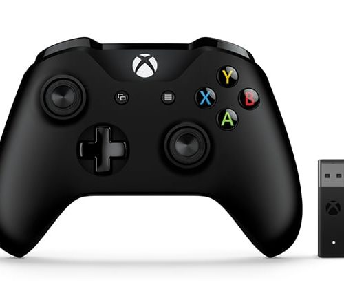 Microsoft 4N7-00002 Xbox Controller and Wireless Adapter for Windows 10