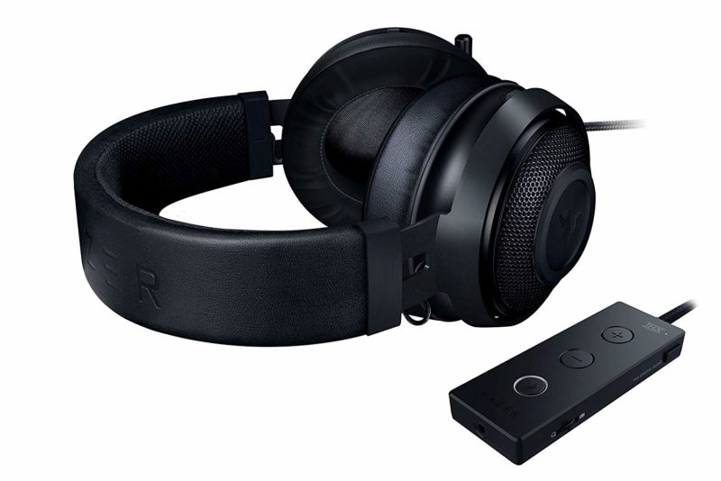 Razer Wired Gaming Headset with USB Audio Controller,  Analog 3.5 mm, Kraken Tournament Edition, USB, Black, Built-in microphone