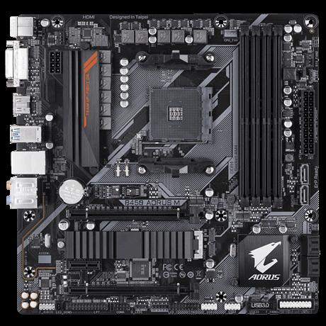 Gigabyte B450 AORUS M 1.0 Processor family AMD, Processor socket AM4, DDR4 DIMM, Memory slots 4, Chipset AMD B, Micro ATX