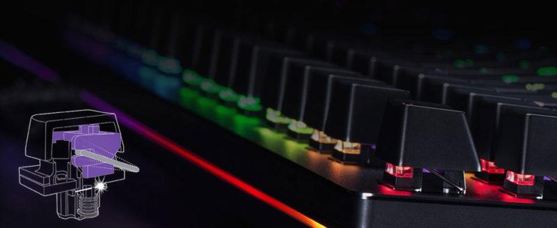 Razer Huntsman Elite, Gaming, US, Opto-Mechanical, RGB LED light Yes, Wired, Black