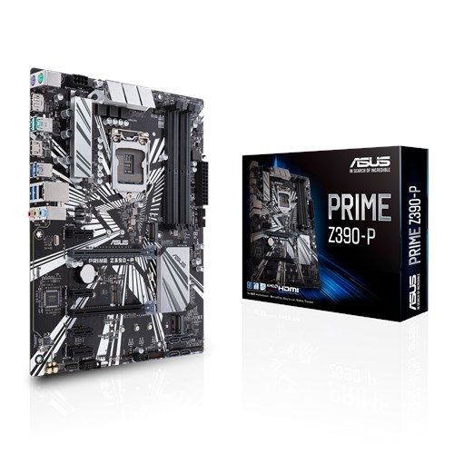 Asus PRIME Z390-P Processor family Intel, Processor socket LGA1151, DDR4, Memory slots 4, Chipset Intel Z, ATX