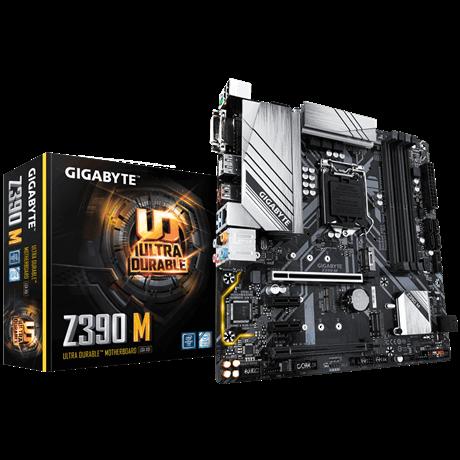 Gigabyte Z390 M Processor family Intel, Processor socket LGA1151, DDR4 DIMM, Memory slots 4, Chipset Intel Z, Micro ATX
