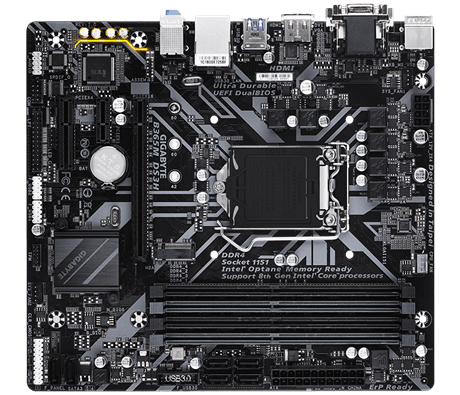 Gigabyte B365M DS3H Processor family Intel, Processor socket LGA1151, DDR4 DIMM, Memory slots 4, Chipset Intel B, Micro ATX