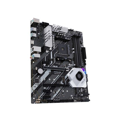 Asus PRIME X570-P Processor family AMD, Processor socket AM4, DDR4, Memory slots 4, Supported hard disk drive interfaces M.2, Number of SATA connectors 6, Chipset AMD X, ATX