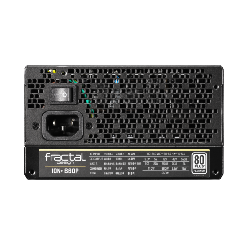 Fractal Design Fully modular PSU Ion+ 660W Platinum 660 W