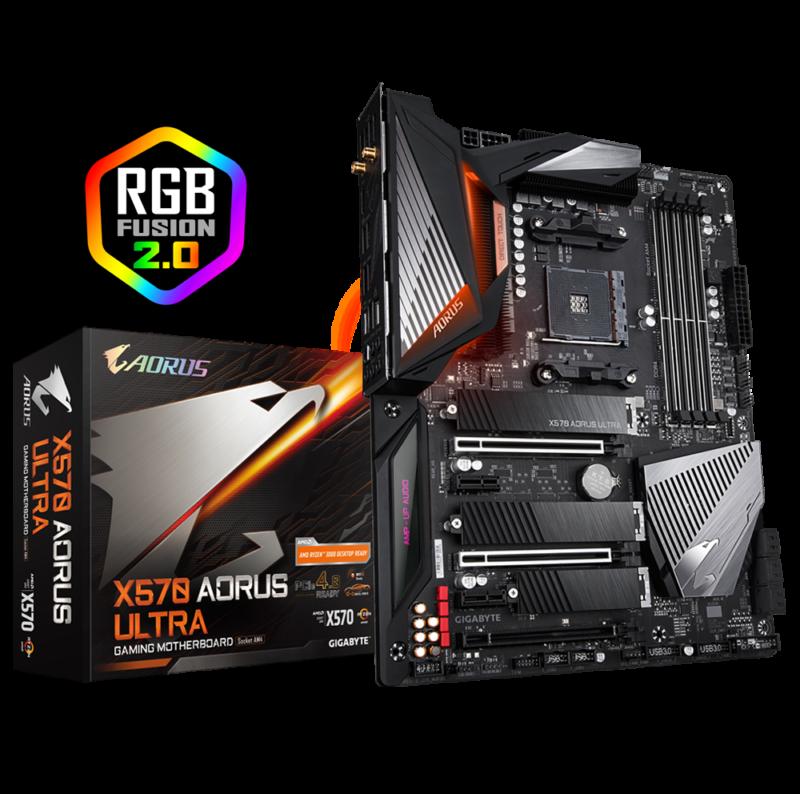 Gigabyte X570 AORUS ULTRA Processor family AMD, Processor socket AM4, DDR4, Memory slots 4, Number of SATA connectors 6 x SATA 6Gb/s connectors, Chipset AMD X570, ATX
