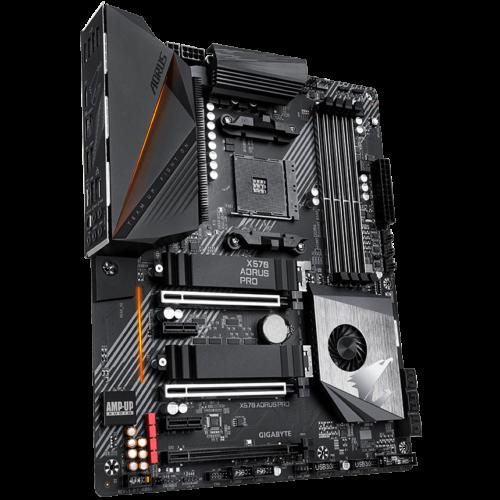 Gigabyte X570 AORUS PRO Processor family AMD, Processor socket AM4, DDR4, Memory slots 4, Number of SATA connectors 6 x SATA 6Gb/s connectors, Chipset AMD X570, ATX