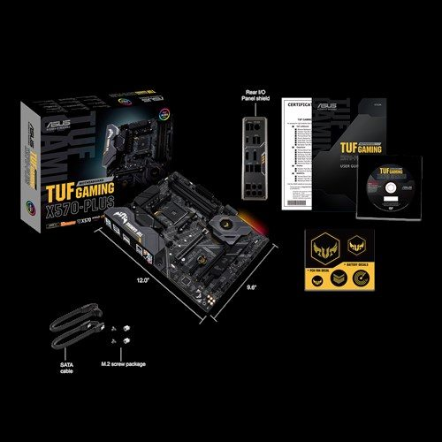 Asus TUF GAMING X570-PLUS Processor family AMD, Processor socket AM4, DDR4, Memory slots 4, Number of SATA connectors 8, Chipset AMD X, ATX