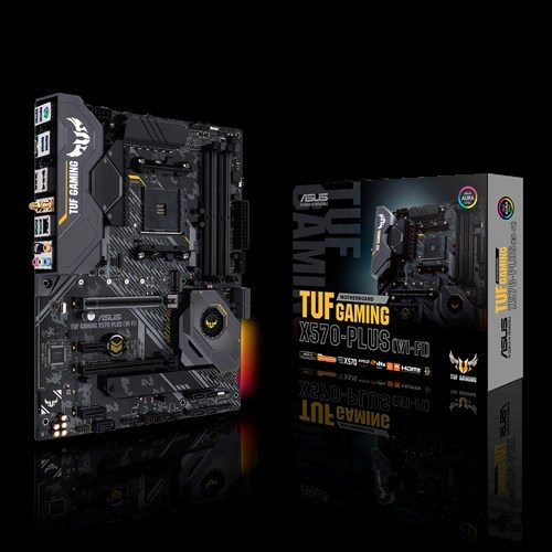 Asus TUF GAMING X570-PLUS (WI-FI) Processor family AMD, Processor socket AM4, DDR4, Memory slots 4, Number of SATA connectors 8, Chipset AMD X, ATX