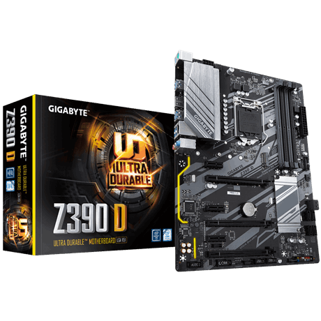 Gigabyte Z390 D Processor family Intel, Processor socket LGA1151, DDR4 DIMM, Memory slots 4, Chipset Intel Z, ATX