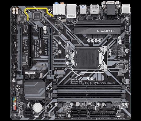 Gigabyte B365M D3H 1.0 Processor family Intel, Processor socket LGA1151, DDR4 DIMM, Memory slots 4, Number of SATA connectors 6 x SATA 6Gb/s connectors, Chipset Intel B, Micro ATX