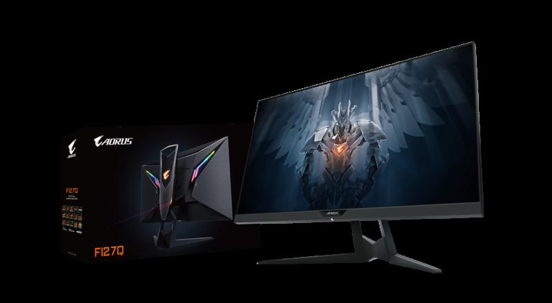 "Gigabyte Gaming AORUS FI27Q-EK 27 "", QHD, 2560 x 1600 pixels, 1 ms, 350 cd/m², Black"