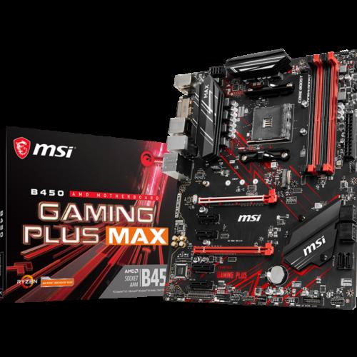 MSI B450 GAMING PLUS MAX Processor family AMD, Processor socket AM4, DDR4 DIMM, Memory slots 4, Number of SATA connectors 6 x SATA 6Gb/s, Chipset AMD B, ATX