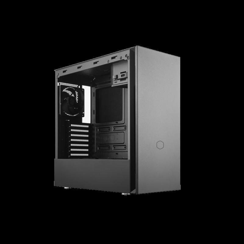 Cooler Master SILENCIO S600 with TG side panel Black,  Mini ITX, Micro ATX, ATX, Power supply included No