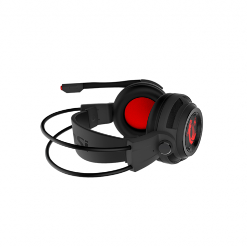 MSI DS502 Gaming Headset, Wired, Black/Red