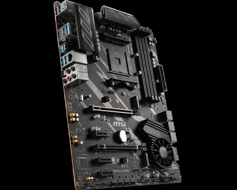 MSI X570-A PRO Processor family AMD, Processor socket AM4, DDR4, Memory slots 4, Chipset AMD X, ATX