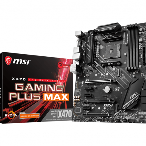 MSI X470 GAMING PLUS MAX Processor family AMD, Processor socket AM4, DDR4, Memory slots 4, Chipset AMD X, ATX
