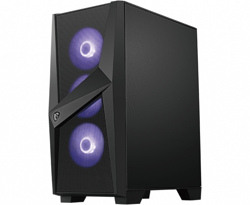 MSI MAG FORGE 101M PC Case, Mid-Tower, USB 3.2, Black