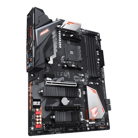 Gigabyte B450 AORUS PRO Processor family AMD, Processor socket AM4, DDR4 DIMM, Memory slots 4, Chipset AMD B, ATX