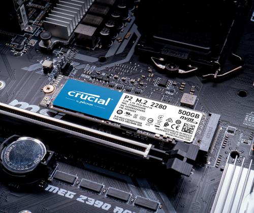 Crucial SSD P2 1000 GB, M.2 2280, PCIe G3 1×4 / NVMe