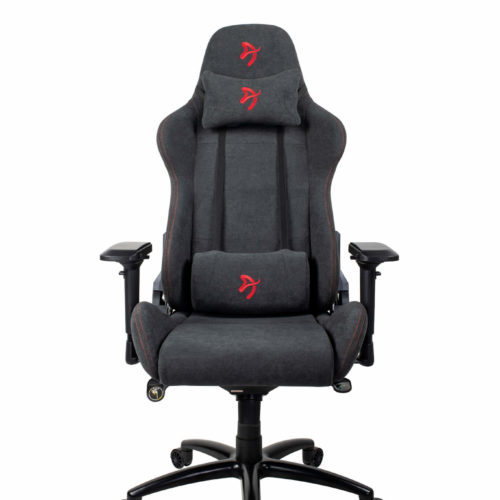 Arozzi Gaming Chair, Verona Signature Soft Fabric, Black/Red Logo