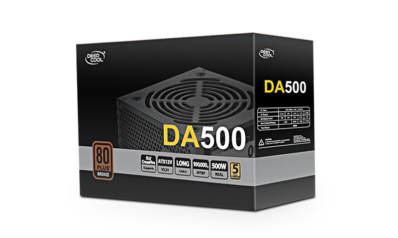Deepcool DA500 500 W, 80PLUS Bronze