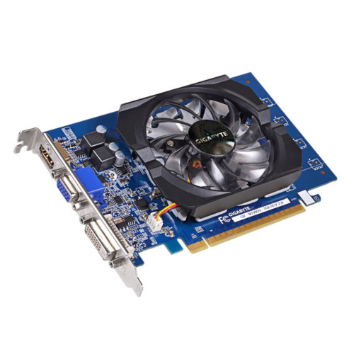 Gigabyte GV-N730D5-2GI NVIDIA, 2 GB, GeForce GT 730, GDDR5-SDRAM, PCI Express 2.0, Cooling type Active, HDMI ports quantity 1, Memory clock speed 5000 MHz, DVI-D ports quantity 1, VGA (D-Sub) ports quantity 1, Processor frequency 902 MHz