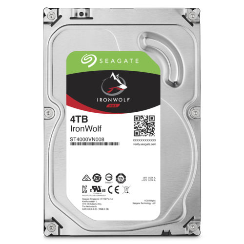 """Seagate NAS HDD IronWolf 4TB ST4000VN008 5900 RPM, 3.5 """", SATA, 64 MB"""