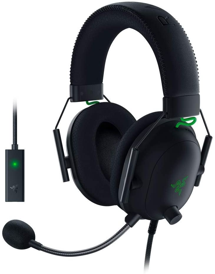 Razer Built-in microphone, Black, Wired, Gaming Headset, Blackshark V2