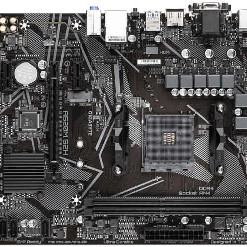 Gigabyte A520M S2H 1.0 Processor family AMD, Processor socket AM4, DDR4 DIMM, Memory slots 2, Chipset AMD A, Micro ATX