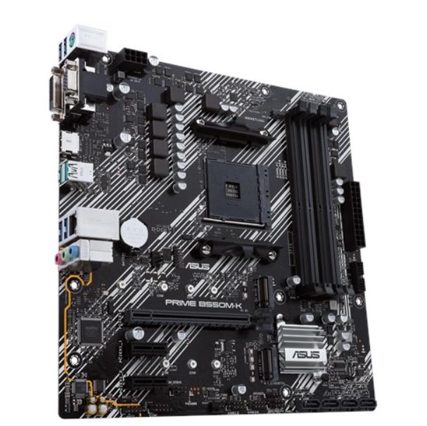 Asus PRIME B550M-K Memory slots 4, Processor family AMD, Micro ATX, DDR4, Processor socket AM4, Chipset AMD B