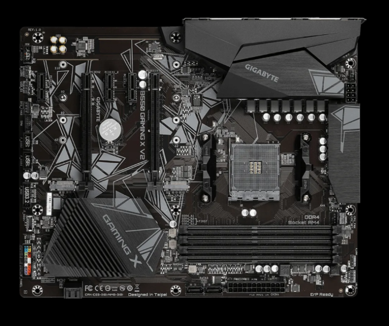 Gigabyte B550 GAMING X V2 Processor family AMD, Processor socket AM4, DDR4 DIMM, Memory slots 4, Chipset AMD B, ATX