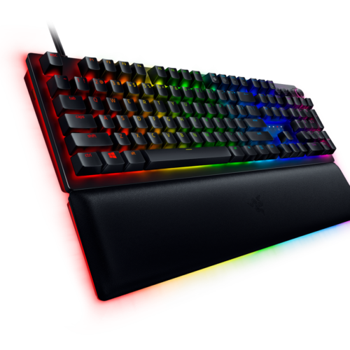 Razer Huntsman V2, Optical Gaming Keyboard, RGB LED light, Russian, Black, Wired