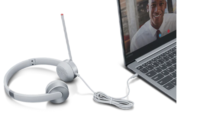 Lenovo Stereo Analog Headset 100 Sliver