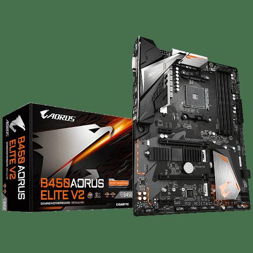 Gigabyte B450 AORUS ELITE V2 1.0 Processor family AMD, Processor socket AM4, DDR4 DIMM, Memory slots 4, Number of SATA connectors 6 x SATA 6Gb/s connectors, Chipset AMD B, ATX
