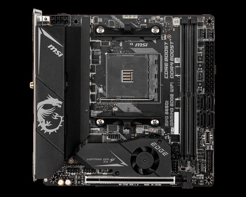 MSI MPG B550I GAMING EDGE WIFI Processor socket AM4, DDR4, Memory slots 2, Chipset AMD B, Mini-ITX