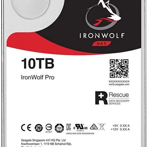 "Seagate NAS HDD IronWolf 10TB ST10000VN0008 7200 RPM, 3.5 "", 10000 GB, SATA, 256 MB"