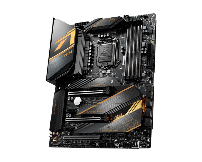 MSI MEG Z490 ACE Processor family Intel, Processor socket LGA1200, DDR4, Memory slots 4, Number of SATA connectors 6 x SATA 6Gb/s, Chipset Intel Z, ATX