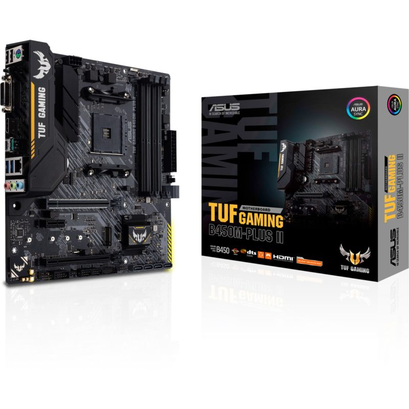 Asus TUF GAMING B450M-PLUS II Memory slots 4, Number of SATA connectors 6 x SATA III, max 128GB, Chipset AMD B, Processor family AMD, Micro ATX, DDR4, Processor socket AM4