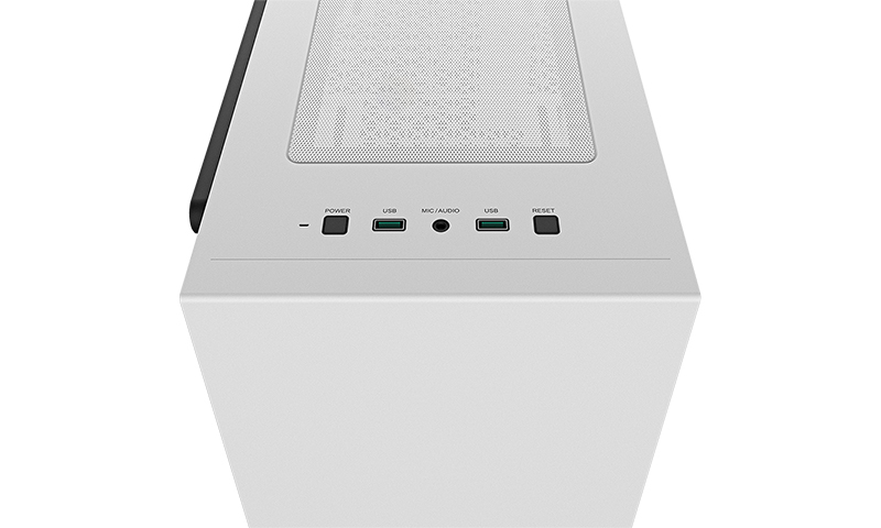 Deepcool MACUBE 110 WH White, ATX, 4, USB3.0x2; Audiox1, ABS+SPCC+Tempered Glass, 1×120mm DC fan
