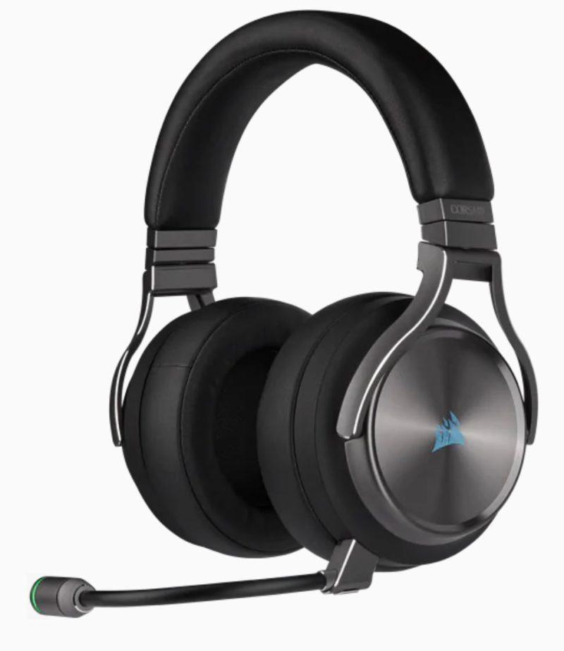 Corsair High-Fidelity Gaming Headset VIRTUOSO RGB WIRELESS SE Built-in microphone, Gunmetal, Over-Ear