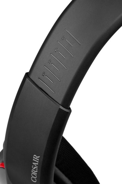 Corsair Premium Gaming Headset with 7.1 Surround Sound VOID ELITE SURROUND Built-in microphone, Black/Cherry, Over-Ear