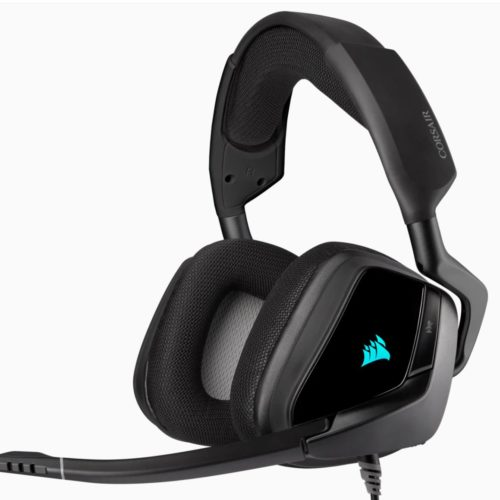 Corsair Premium Gaming Headset with 7.1 Surround Sound VOID RGB ELITE USB Built-in microphone, Carbon, Over-Ear