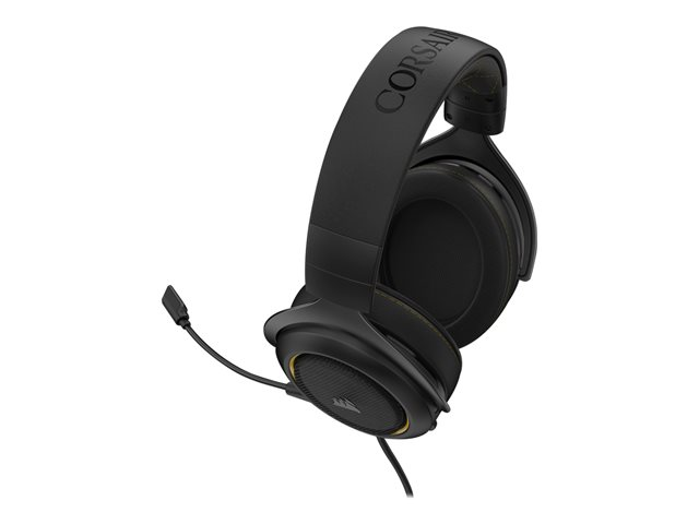 Corsair Gaming Headset HS60 PRO SURROUND Built-in microphone, Yellow, Over-Ear, Noice canceling