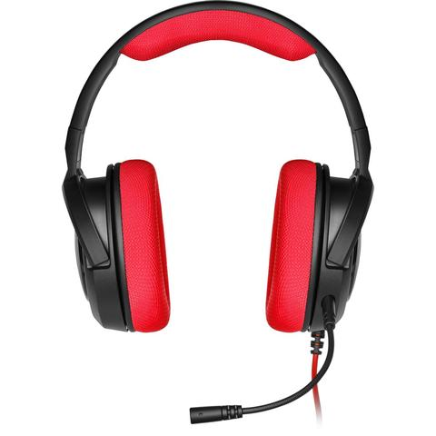 Corsair Stereo Gaming Headset HS35 Built-in microphone, Black/Red, Over-Ear
