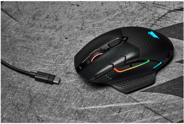 Corsair Gaming Mouse DARK CORE RGB PRO SE Wireless / Wired, 18000 DPI, Wireless connection, 2000 Hz, Rechargeable, Black