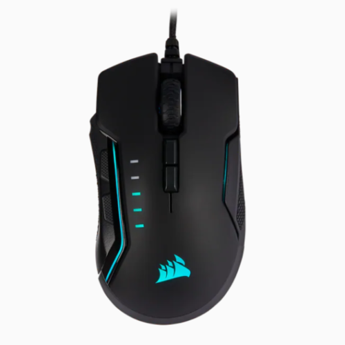 Corsair Gaming Mouse GLAIVE RGB PRO Wired, 18000 DPI, Aluminum