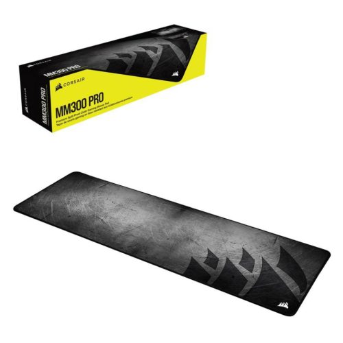 Corsair Premium Spill-Proof Cloth Gaming Mouse Pad MM300 PRO 930 x 300 x 3 mm, Medium Extended, Black/Grey