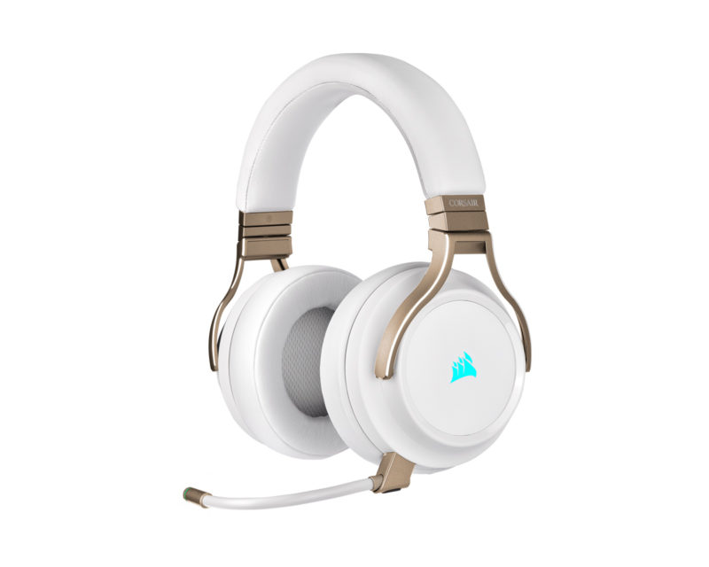 Corsair High-Fidelity Gaming Headset VIRTUOSO RGB WIRELESS Built-in microphone, Pearl, Over-Ear